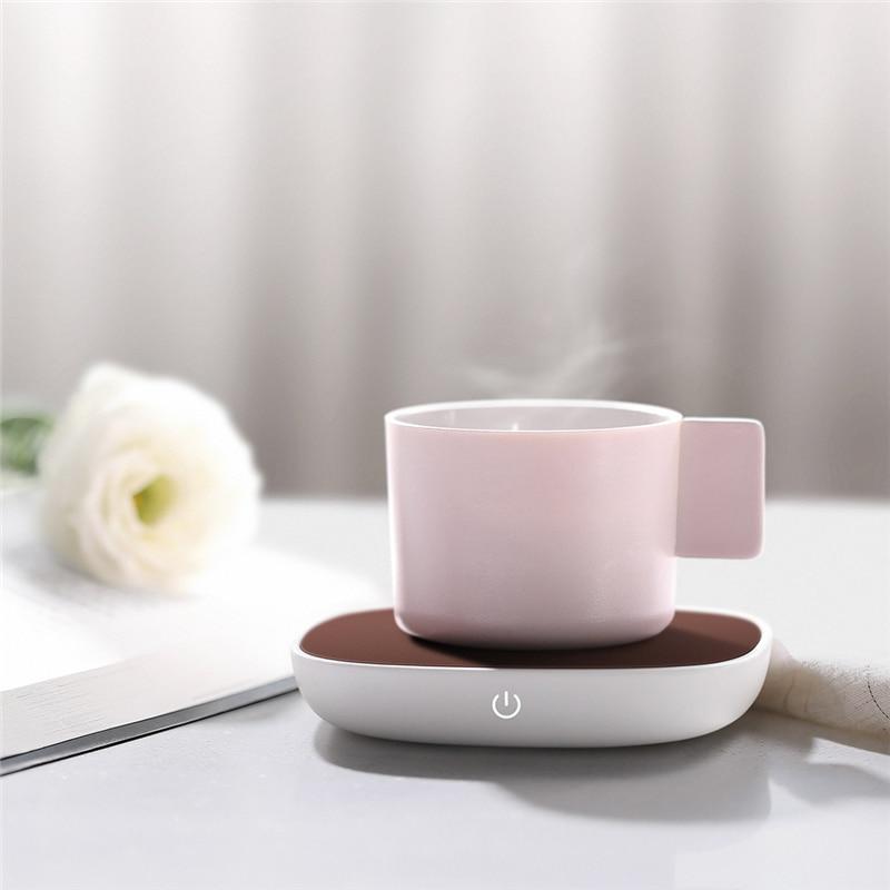 THN NBD01 Sensor Switch Warm Cup Mat USB 5V PI Heating 55 Degree Insulation Base Keep Drink Warm Heater Mugs For Home