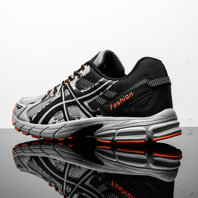 New Summer Running Shoes For Men Breathable Sneakers Lace-Up Durable Outdoor Sport Shoes Comfort Jogging Walking Sneakers Men