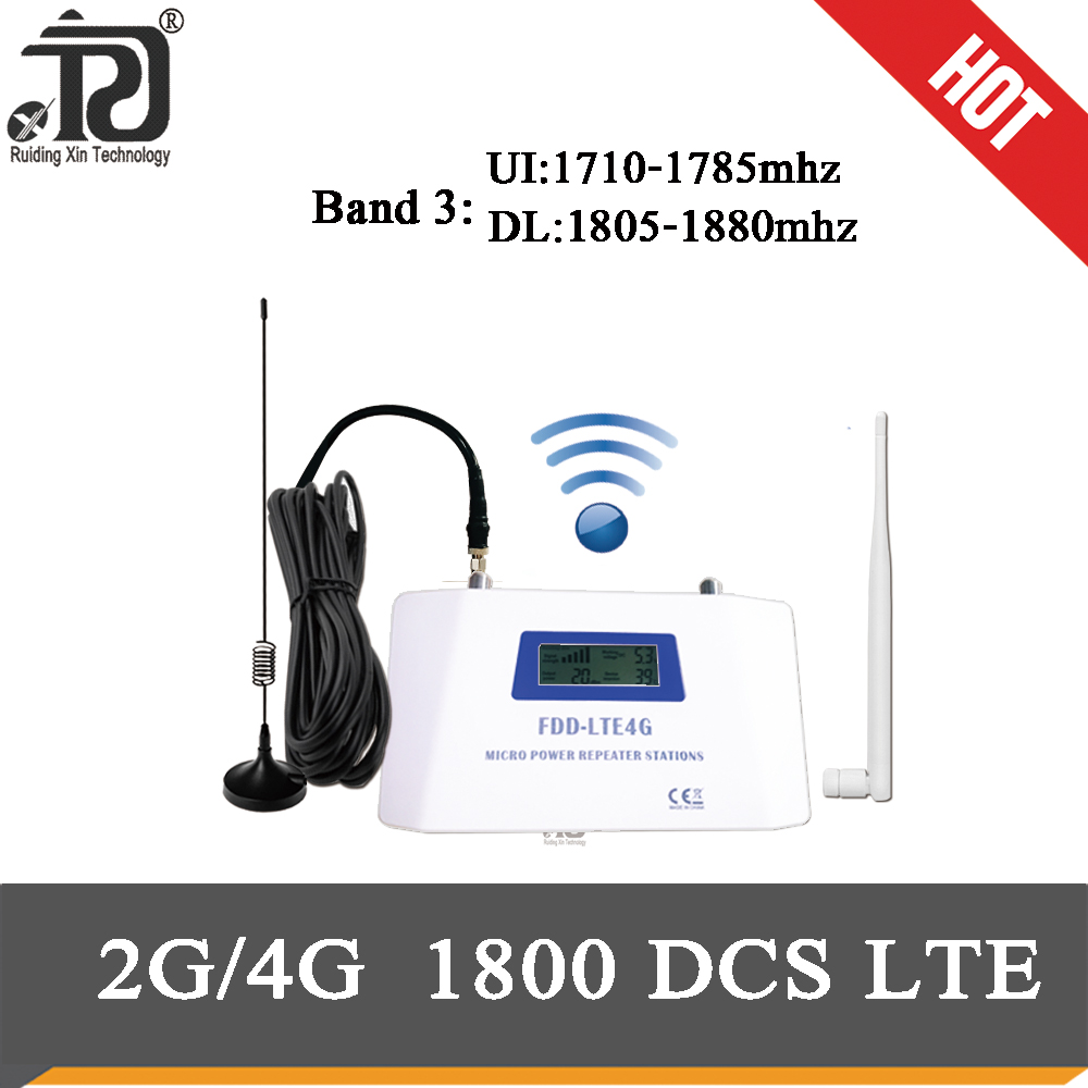 2g 4G  Signal Booster 1800 Cellular Amplifier LTE DCS 1800mhz 4G Mobile Signal Booster+Suction Cup Antenna+ Yagi Antenna+10m Cab