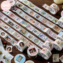 Mr Paper 8 Designs Retro Post Office Plant Bullet Journaling Stamp Tapes Scrapbooking Deco Sticker Masking Easy to Tear