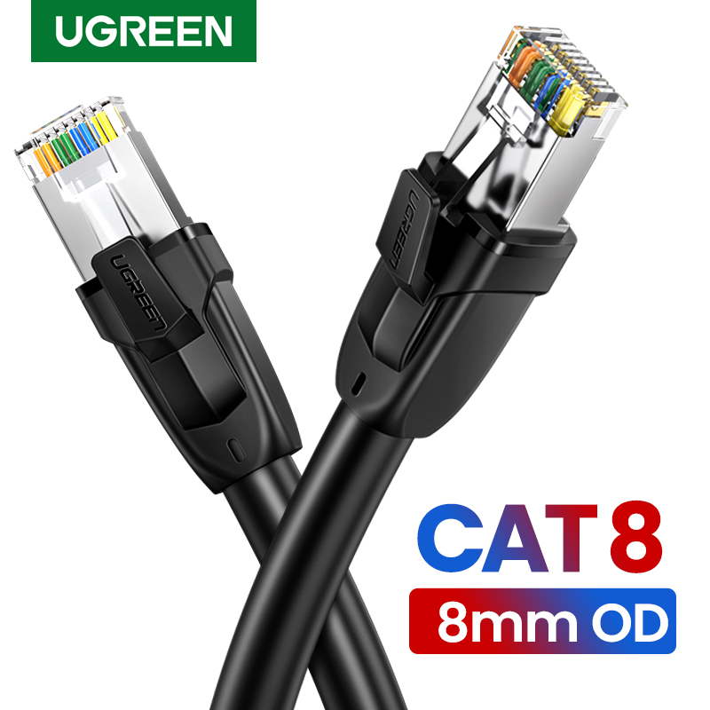 Ugreen Cat8 Ethernet Cable RJ 45 Network Cable SFTP Lan Cat 7 RJ45 Patch Cord For PlayStation PS 4 Router Laptop Cable Ethernet
