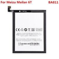 6 t bateria original para meizu meilan 6 t m6t 3300 mah ba811 substituição bateria de polímero li-ion telefone peças de reparo