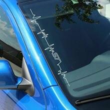 """ملصق سيارة على الزجاج الأمامي من الفينيل FS61 """"Heartbeat ST"""""""