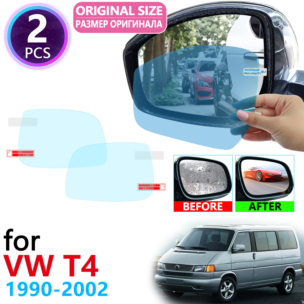 For VW T4 Volkswagen Transporter Multivan 1990~2002 Full Cover Rearview Mirror Anti-Fog Rainproof Anti Fog Film Accessories