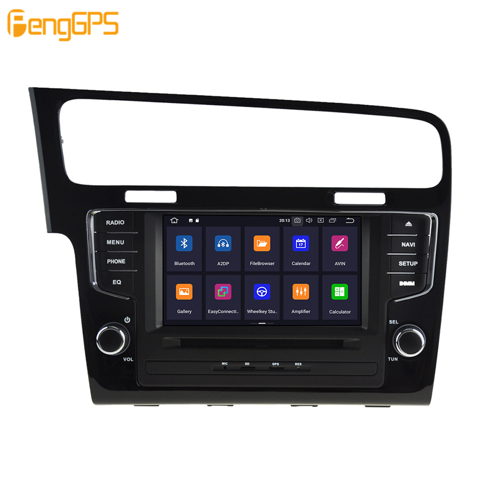 Android 9.0 4 + 64GB DVD player Eingebaute DSP Auto multimedia Radio Für VW Golf 7 2013 2017 GPS navigation Stereo Audio - 3