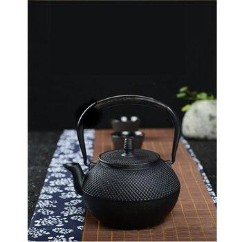 Cast Iron Tea Pot Teapot Japanese Style Kettle With Strainer Flower Tea Puer Kettle Coffee Teapot 300ml 3