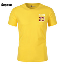 New brand hot new T-shirt Jordan 23 printing mens clothing top quality cotton hip-hop short-sleeved m
