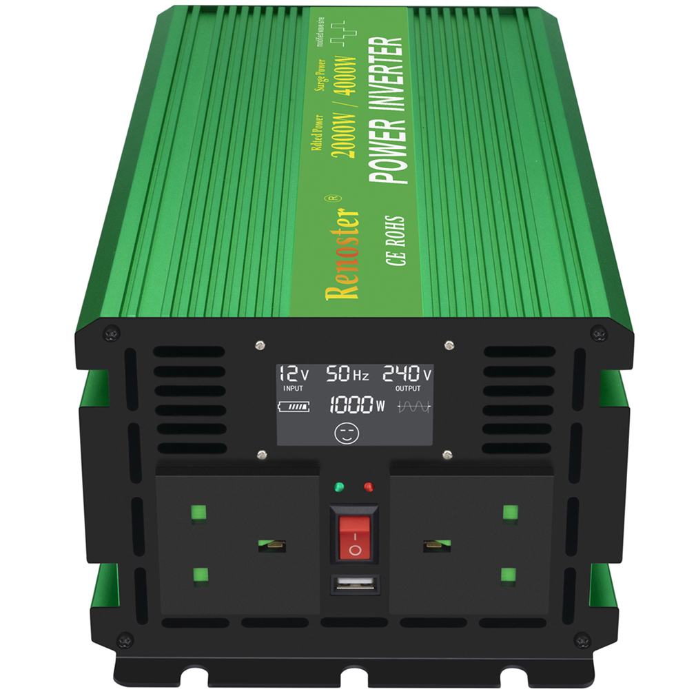 Solar Inverter drahtlose Konverter 2000/4000W Ladegerät Power Inverter Modifizierte Sinus Welle Inverter 12V 110V mit LCD display auto