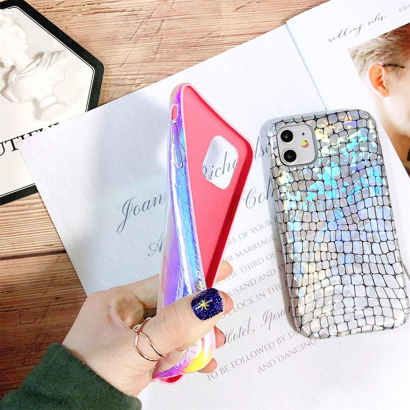 Liscn Cao Cấp Ốp Lưng Điện Thoại Iphone XS Max 6 6Splus 7 X XS XR 11 Pro Max Da Cá Sấu da PU Điện Thoại 8Plus Ốp Lưng