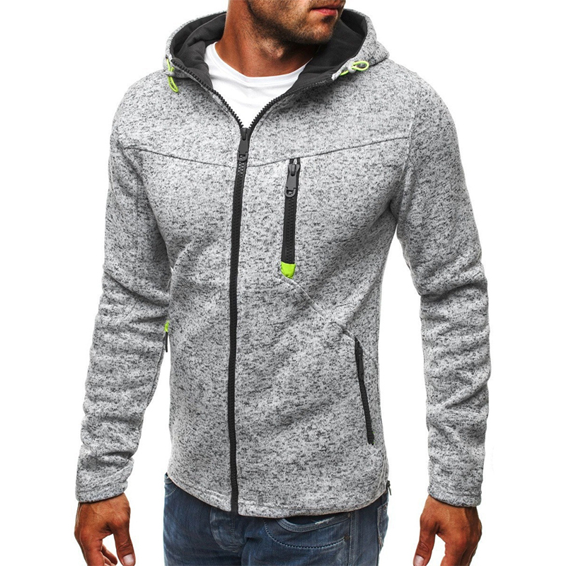 Manoswe Men Sports Casual Wear Zipper COPINE Fashion Tide Jacquard Hoodies Fleece Jacket Fall Sweatshirts Autumn Winter Coat 3