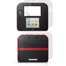 Transparent clear Vinyl Skin Sticker Protector for 2DS skins Stickers