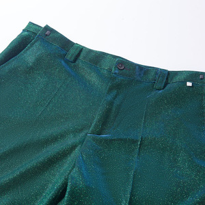 Image 5 - PYJTRL Fashion Shiny Green Blue Purple 2 Pieces Set Wedding Suits For Men Party Prom Tuxedos DJ Singers Costume Homme Chorus