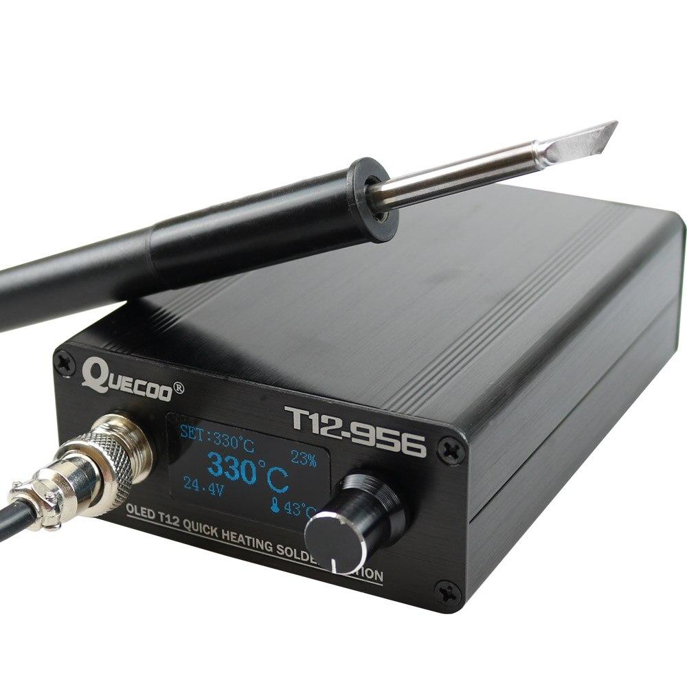 Station de soudage STC T12-956 fer à souder électronique station numérique OLED T12 pointe de fer à souder avec poignée de T12-P9 sans prise