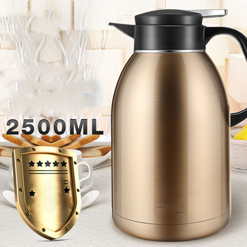 Stainless Steel Home Restaurant Hotel Office Vacuum Flask Large Capacity Vacuum Open Kettle Thermos 2.5L Hydro Flask Insulated