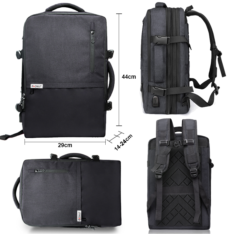 Mochila Retro de cuero genuino para hombre, mochila para ordenador portátil de gran capacidad, mochila escolar, bolsos de hombro para hombre, mochilas de viaje de cuero marrón - 5