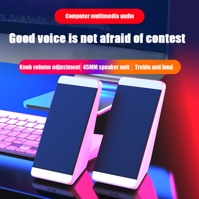 Computer Speakers 2 Pieces PC Elevation Angle Horns for Laptop Desktop Phone Audio Speaker Media Loudspeaker 4