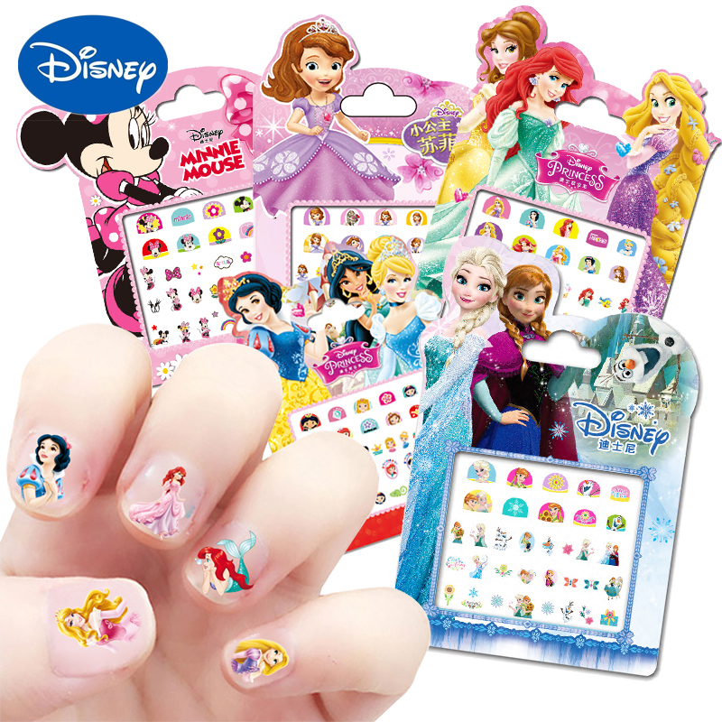 Frozen Princess elsa Anna Makeup Nail Stickers Toys Disney snow White Sophia Mickey Minnie kids Cartoon toys action figure dolls|Action & Toy Figures|   - AliExpress