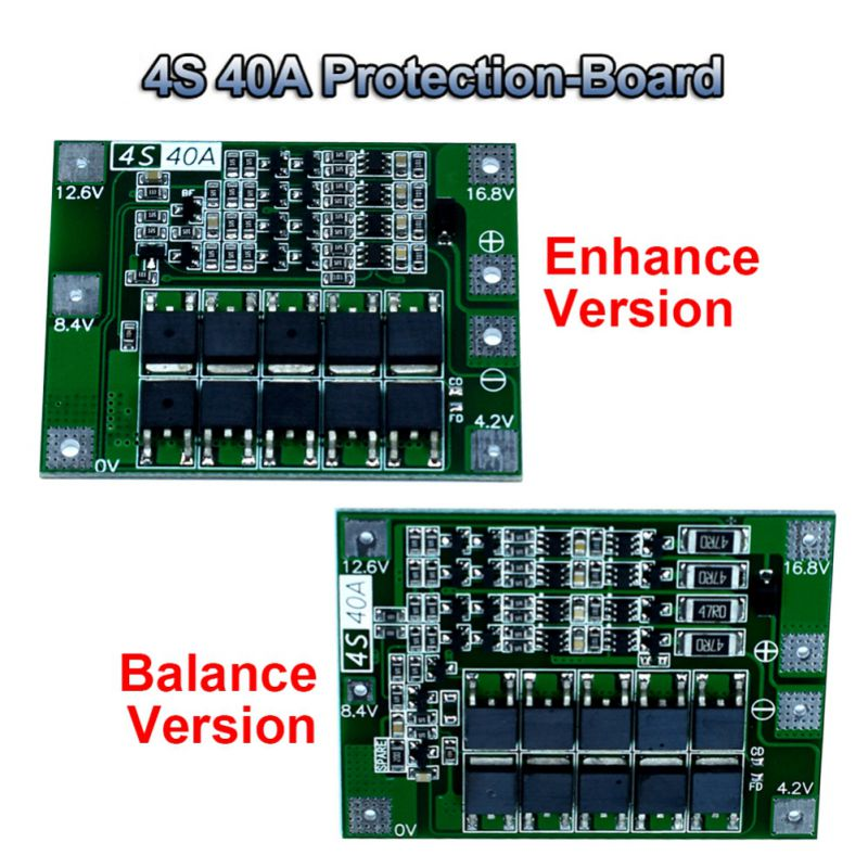 4S 40A Board Battery Protection PCB Board Battery Charger Protection Board, Grease Battery PCB Board PCB BMS Module