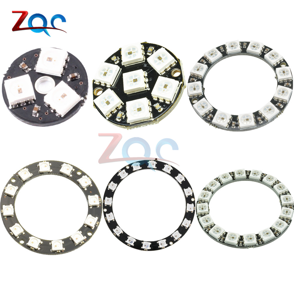 Built-in Integrated Drivers 5050 WS2812B 1 8 12 16 24 32 Bits RGB LED Ring