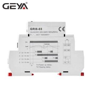 Image 4 - شحن مجاني GEYA GRI8 03 أكثر من الحالي أو تحت الحالي قابل للتعديل التتابع 0.05A 1A 2A 5A 8A 16A التتابع الحالي