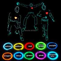 Event Party Bling Bling EL Cable Costume Dance DJ Disco Led Costume Halloween Party Flashing Luminous Clothes Stage Show Suit
