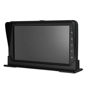 7 Inch Dual Split 1080P Monitor Dual Camera DVR Parking System for Truck Bus Caravan RV