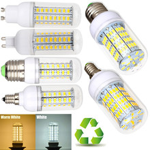 220V E27 LED Lamp Bulb SMD5730 High Bright LED Corn Bulb 3W 5W 7W 9W 12W 15W LED Bombilla B22 E14 G9 GU10 Chandelier Lights D30