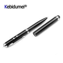12 سنتيمتر الملونة دائم 4 في 1 مؤشر ليزر LED الشعلة شاشة تعمل باللمس القلم الكرة القلم آيفون أقراص اللمس أقلام لأجهزة أي بود