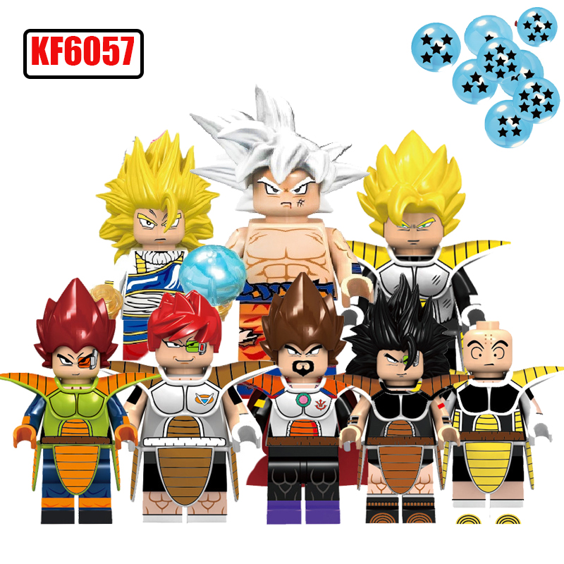 Single Sale Dragon Ball Z Son Goku Vegeta Recoom Raditz Building Blocks LegoingLys Figure Toys For Boys And Girls KF6057