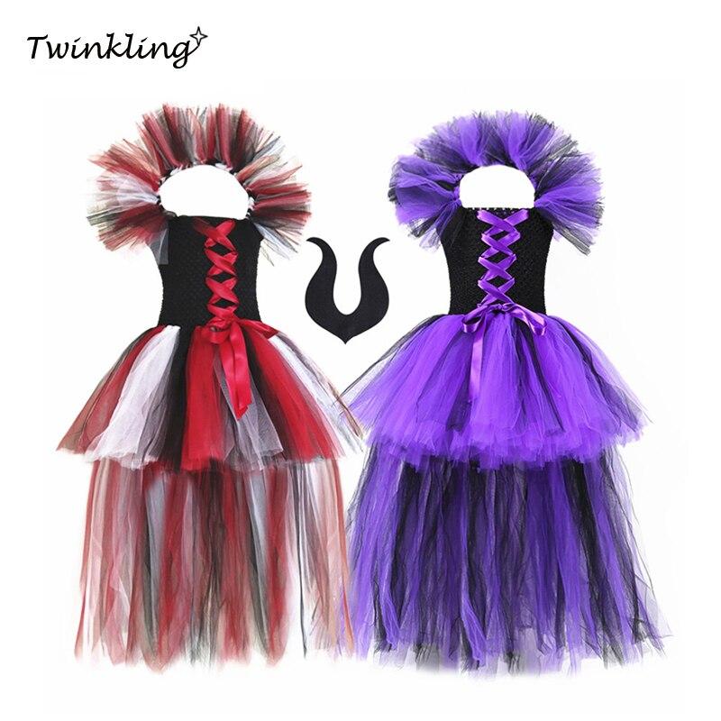 Nuevo Cuerno del diablo rojo de plástico para niños pequeños Diadema Fiesta Halloween Vestido de fantasía
