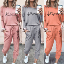 2021 Women Tracksuit 2 Piece Sets Lady Casual Outfits Spring Autumn Long Sleeve Sweatshirts Sports Suits Female Training Suits