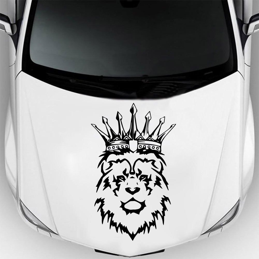 Стикеры «Лев» нового дизайна для автомобилей, Стайлинг автомобиля, окно, бампер, грузовик, наклейка, виниловая Водонепроницаемая наклейка д...