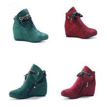 SIZE 34-48 New wedges boots lace up zip fashion ladies ankle boots women round toe high heels women boots casual shoes hee grand lace up rain boots woman fashion med heels new shoes woman high quality casual hot sale women boots size 36 40 xwx4924