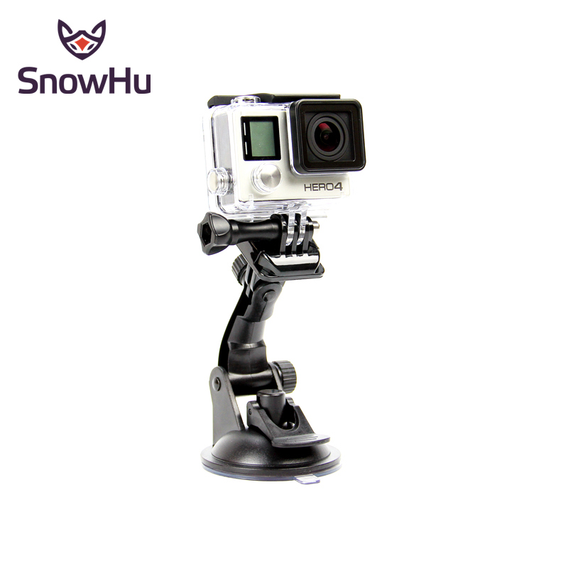 SnowHu For Go Pro Accessories 7cm Car Mount Windshield Suction Cup For Gopro Hero 8 7 6 5 4  For SJCAM For Xiaomi For Yi GP17