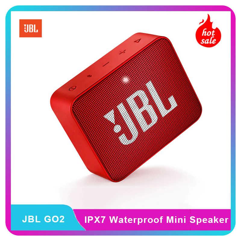 Jbl Go2 Wireless Bluetooth Mini Speaker Ipx7 Waterproof Outdoor Sports Portable Speaker 3 5mm Rechargeable Battery With Mic Aliexpress