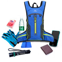 10L مقاوم للماء دراجة كيس ماء حقيبة ظهر هيدراتية للمشي حقائب التخييم حزمة المياه طوي المثانة قنينة الماء على الظهر
