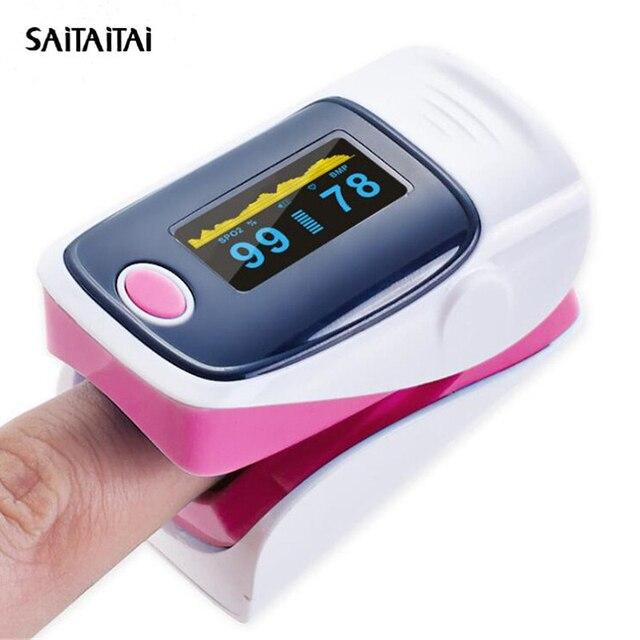 STT Portable Finger Pulse Oximeter Blood Oxygen Saturation meter Fingertip  SPO2 Monitor Oximetro de dedo Oximet 2