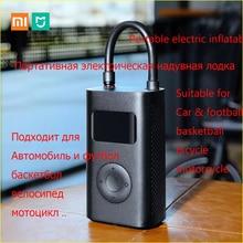 Original xiaomi Mijia Inflator Portable Smart Digital Tire Pressure Sensor Electric Pump for Motorcycle Motorcycle Car Soccer