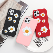 Art Floral Daisy Pour iPhone 11 X XR XS Max 6 S 7 8 Plus 5 Mode Daisy Fleur Étui Souple TPU Pour iPhone SE 2020 Couverture(China)