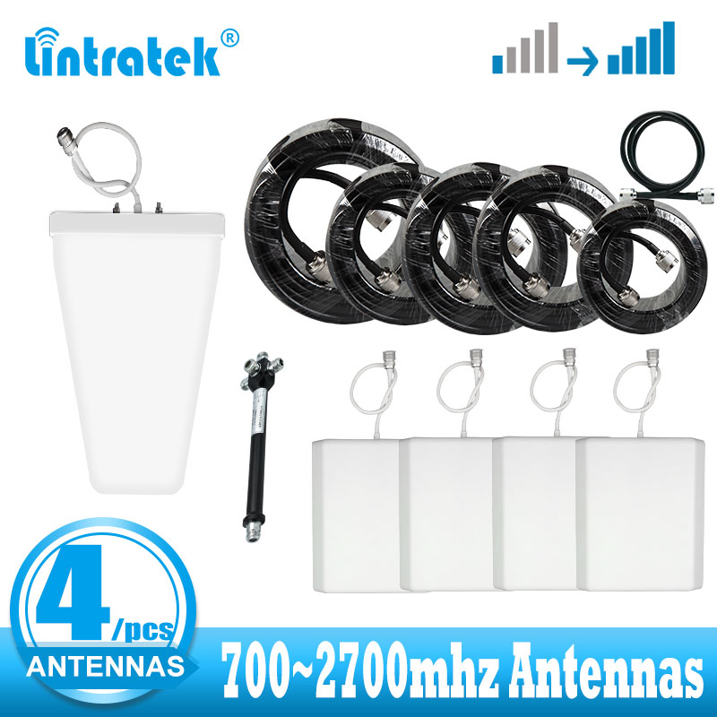 4 Indoor Antenna Kit 2G 3G 4G Antennas 700 ~2700mhz For 2g 3g 4g Cellular Signal Booster Amplifier LTE Network Signal Repeater