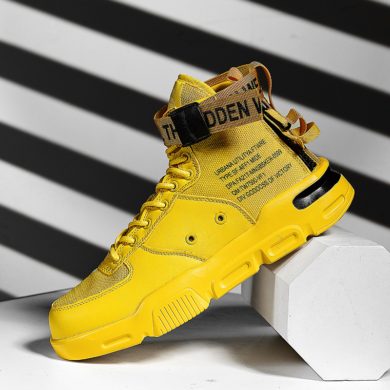 2019 New Men Fashion Casual Shoes Sneakers Spring High Top Trend Man Shoes Brand Comfortable Breathable Waterproof Walking Shoes