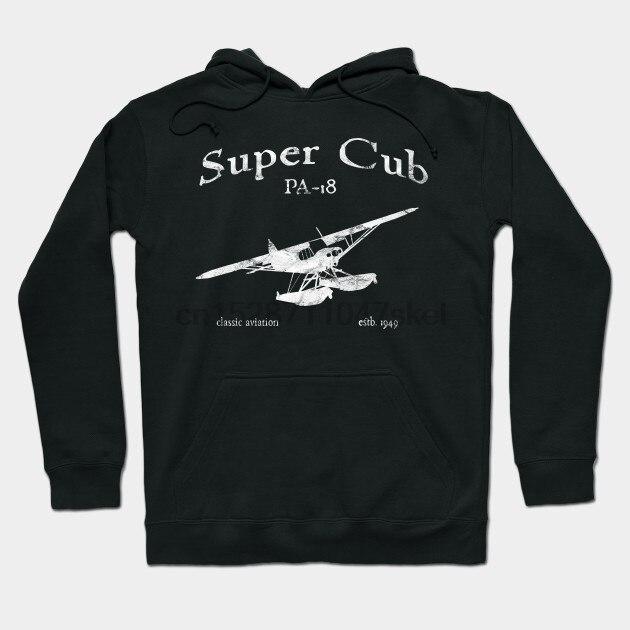 PA 18 Super Cub On Floats Classic Vintage By Designedforflight Streetwear Men Women Hoodies Sweatshirts