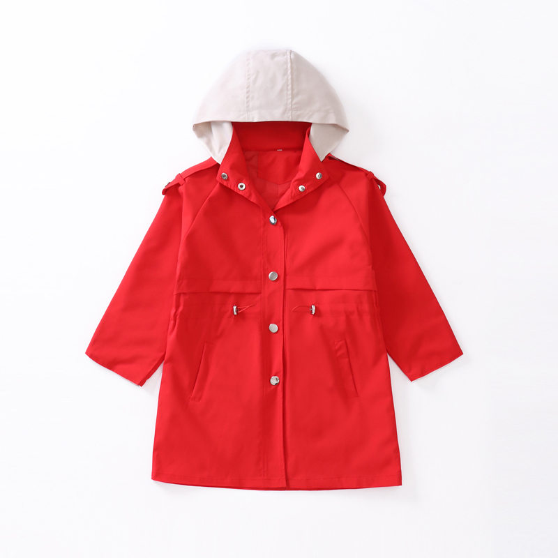 Купить с кэшбэком Girls trench coats kids windbreaker 2020 spring autumn new teenage long coats outerwear for children clothes 5 7 9 11 13 Year