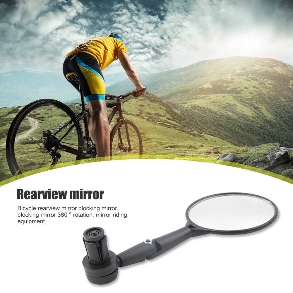 1pc Bicycle Handlebar End Mirrors 360 Rotatable Bike Side Rearview Mirror #8Y
