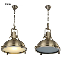 Lámpara colgante Industrial lámpara colgante Retro ola de óxido náutica E27 bombilla Vintage Art Deco desván colgante de ladrillo accesorio de iluminación