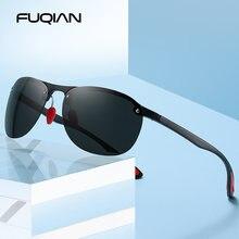 Fuqian 2020 поляризованные солнцезащитные очки без оправы Мужские
