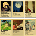 Винтаж, классическое кино ТВ показать E.T/Pulp Художественная литература ретро постер наклейки на стену для Гостиная Главная Wall Art украшение до...