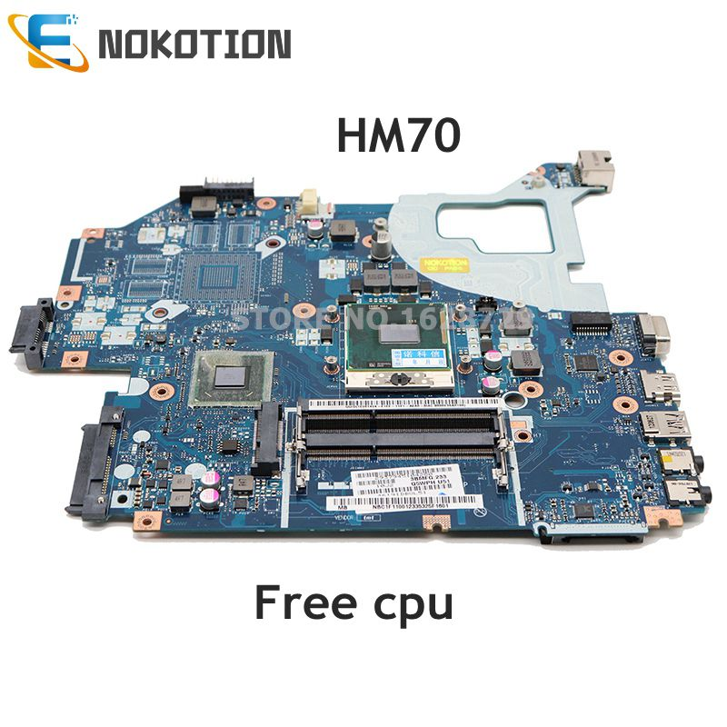 NOKOTION Q5WV1 LA-7912P Mainboard For Acer E1-571G V3-571G V3-571 NV56R PC Motherboard NBC1F11001 HM70 DDR3 Free Cpu