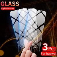 Vidrio templado para Huawei Nova 3 3i 3E Y6 Y7 Y9 Y5 primer Y9S 2019 2018 Y6S Y6P Y7P Y8P Y7A Y9A 2020 pantalla cristal Protector de la película