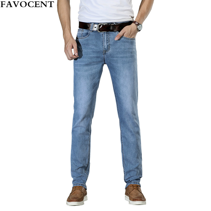 New Mens Jeans Fashion Straight Cotton Distressed Jeans Men's Slim Stretch Men Denim Pants Solid Male Trousers Jeans Streetwear